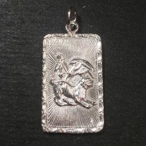 "Silver ""Happiness "" &  Dog Zodiac Charm Pendant"